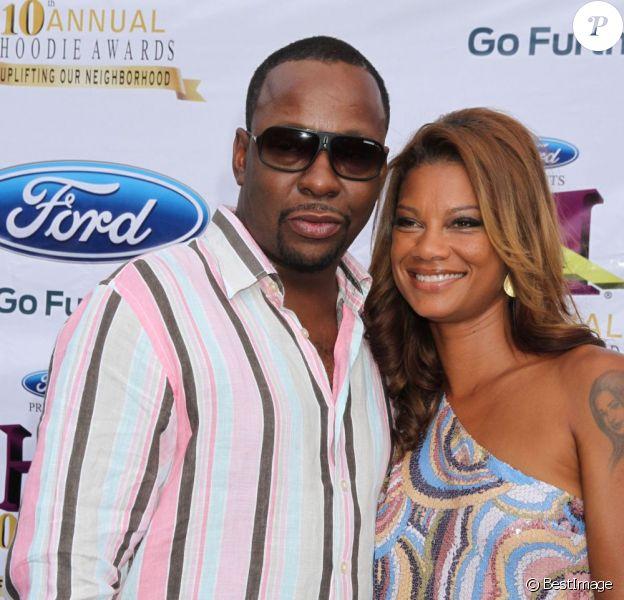 Bobby Brown et sa femme à la 10ème cérémonie des Hoodie Awards 2012 à Las Vegas, le 4 août 2012.
