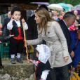 Letizia et Felipe d'Espagne visitent le village de Bueno aux Asturies, nommé village exemplaire, le 27 octobre 2012
