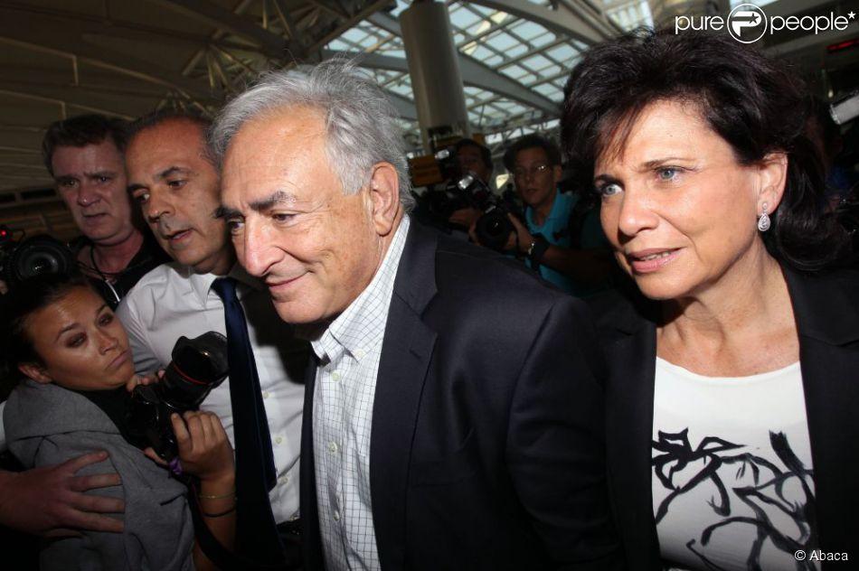 Dominique Strauss-Kahn et Anne Sinclair à New York le 3 septembre 2011.