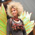 Alexandra Rosenfeld lors du défilé qui lance le Salon du chocolat à la Porte de Versailles le 30 octobre 2012 à Paris