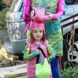 La petite Satanya dans les rues de Brentwood, à Los Angeles, le 31 octobre 2012.