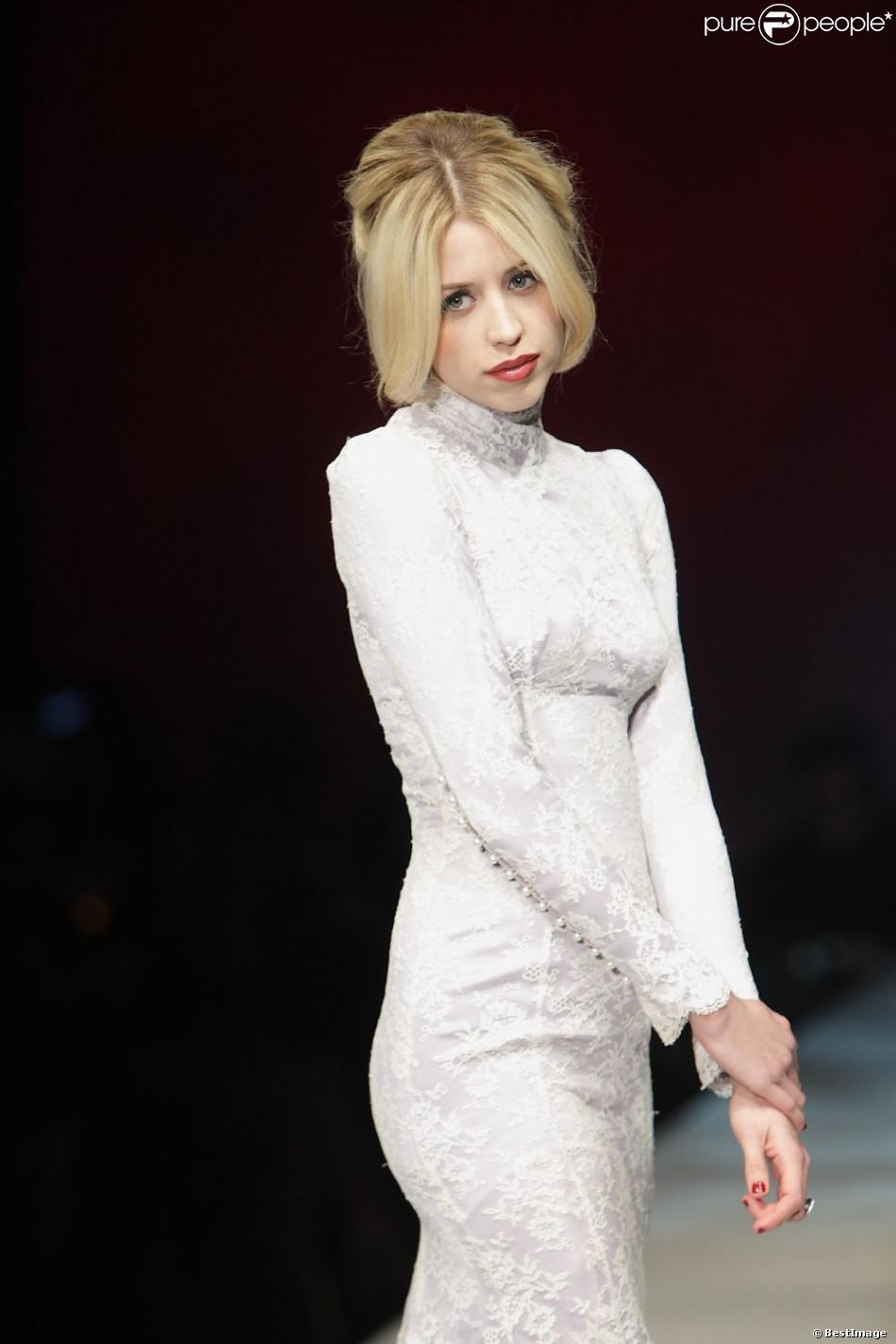 Peaches Geldof au défilé de lingerie de la marque Lingerie London à Londres, le 24 octobre 2012.