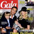 Dany Brillant, sa femme Nathalie et ses deux fils Lino et Dean en Une du magazine  Gala  - septembre 2012.