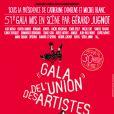 Affiche du 51ème Gala de l'Union des Artistes.