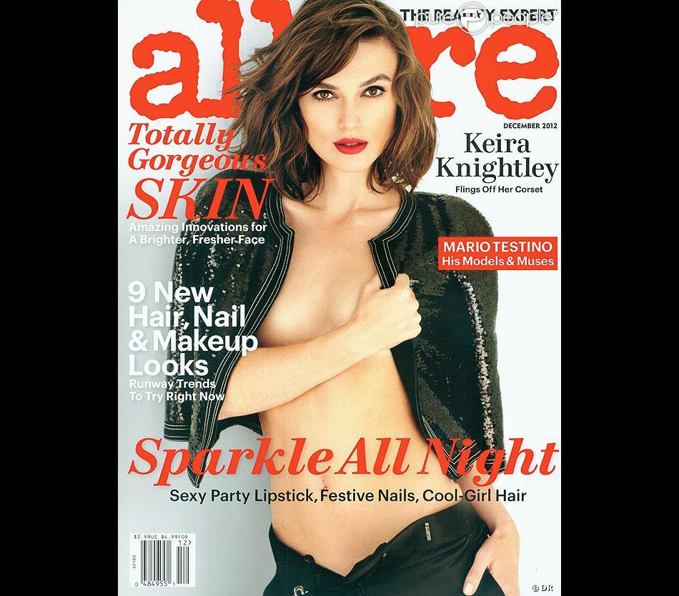 Keira Knightley en une du magazine  Allure  pour le mois de décembre 2012.