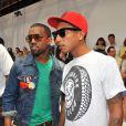 Kanye West et Pharell Williams  au défilé Louis Vuitton