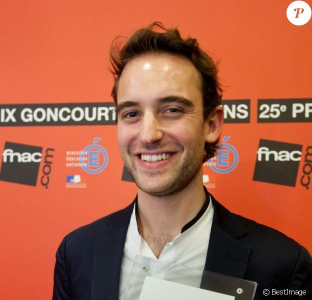Joël Dicker remporte le prix Goncourt des lycéens pour La Vérité sur l'affaire Harry Quebert, le 15 novembre 2012.