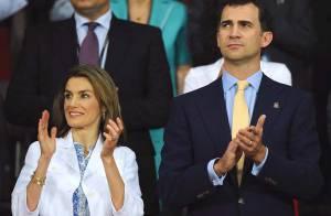PHOTOS : Letizia et Felipe d'Espagne, fous de foot... et de victoire !