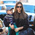 Miranda Kerr et son fils à New York, le 14 novembre 2012.