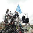 L'opération Poussettes vides au profil de l'Unicef à Paris dans les jardins du Trocadéro le 18 novembre 2012