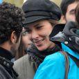 Melissa Theuriau et Jamel Debbouze, toujours plus complices et amoureux, lors de l'opération Poussettes vides au profil de l'Unicef à Paris dans les jardins du Trocadéro le 18 novembre 2012