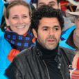 Jamel Debbouze présent et motivé pour l'opération Poussettes vides au profil de l'Unicef à Paris dans les jardins du Trocadéro le 18 novembre 2012