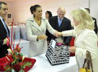 Princesse Stéphanie de Monaco : Double ration de sourires et de victuailles