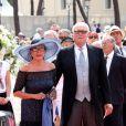 Le prince Victor-Emmanuel de Savoie et la princesse Marina lors du mariage religieux du prince Albert et de la princesse Charlene de Monaco le 2 juillet 2011.