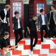 Niall Horan, Zayn Malik, Liam Payne, Harry Styles, Louis Tomlinson - Le groupe One Direction sur le plateau du Today Show à New York le 13 novembre 2012.