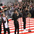 Niall Horan, Zayn Malik, Liam Payne, Harry Styles, Louis Tomlinson - Les One Direction sur le plateau du Today Show à New York le 13 novembre 2012.