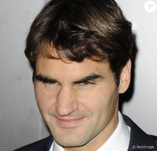Roger Federer, le nouvel ambassadeur de Moët & Chandon à Londres, le 3 novembre 2012.