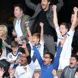 David Beckham a pu célébrer avec ses fils Brooklyn, Cruz et Romeo, qui explosent ici de joie, son deuxième titre consécutif de champion de la MLS avec le Los Angeles Galaxy, grâce à la victoire sur le Dynamo Houston lors de la finale jouée le 1er décembre 2012 au Home Depot Center, et faire ses adieux en apothéose au club américain.