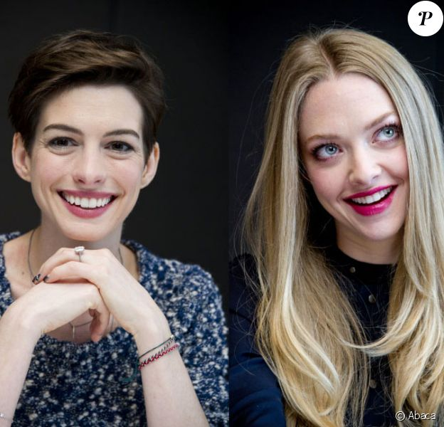 Anne Hathaway et Amanda Seyfried lors du photocall du film Les Misérables à New York le 2 décembre 2012