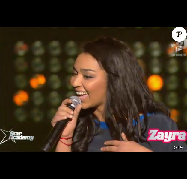 Zayra dans Star Academy 9, jeudi 6 décembre 2012 sur NRJ12