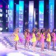 Tableau en hommage aux Demoiselles de Rochefort lors de l'élection de Miss France 2013 le samedi 8 décembre 2012 sur TF1 en direct de Limoges