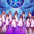 Hommage à Marylin Monroe en maillot de bain lors de l'élection de Miss France 2013 le samedi 8 décembre 2012 sur TF1 en direct de Limoges