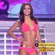 Miss Bourgogne, Marine Lorphelin, élue Miss France 2013 lors du passage en bikini.