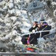 La princesse Victoria de Suède et le prince Daniel au ski à Lindvallen le 2 décembre 2012 avec Mats Arjes et son épouse Kerstin.