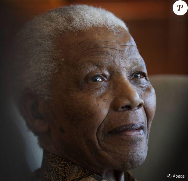 Nelson Mandela à Johannesburg, le 11 juillet 2009.