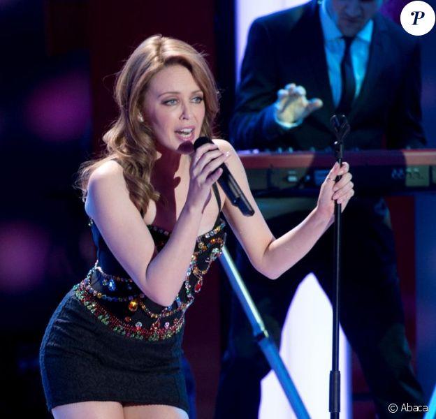 Kylie Minogue lors du gala de charité 'Du coeur pour les enfants', organisé à Berlin et diffusé par la chaîne ZDF, le 15 décembre 2012.