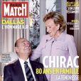 Bernadette Chirac et Jacques Chirac en couverture de Paris Match pour le 80e anniversaire de l'ancien président. En kiosques le 29 novembre 2012.