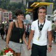 Raquel del Rosario et Fernando Alonso à Monaco en juillet 2009 pour le départ du Tour de France.