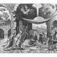 La carte de voeux (L'Adoration des bergers de Marteen Van Heemskerck) du roi Juan Carlos Ier d'Espagne et de la reine Sofia, décembre 2012