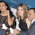 Letizia d'Espagne lors du dîner des prix Mujer Hoy (Femme d'aujourd'hui) le 19 décembre 2012 à Madrid.