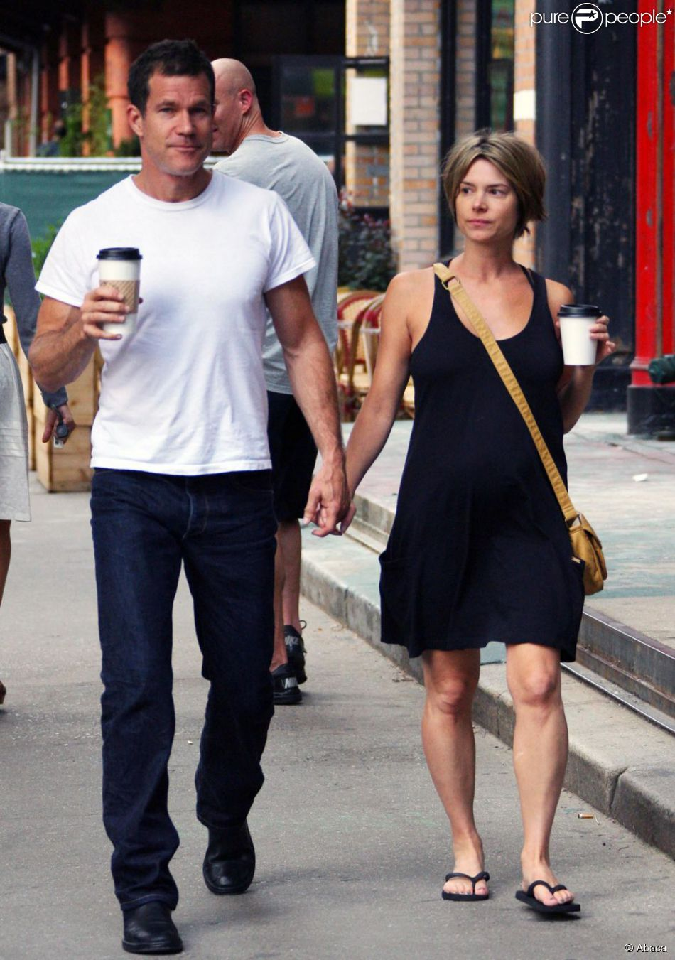 Dylan Walsh and new girlfriend get a coffee in Los Angeles, CA on July 1, 2011. Photo by Ramey Agency/ABACAPRESS.COM01/07/2011 - Beverly Hills