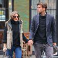 Olivia Palermo et son petit ami Johannes Huebl dans les rues de New York. Le 8 octobre 2012.