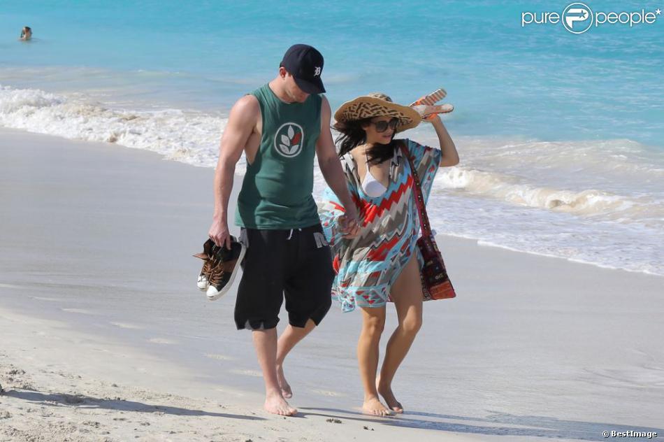 Channing Tatum et sa épouse Jenna Dewan en vacances à Saint-Barthélemy, le 28 décembre 2012.