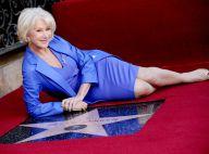 Helen Mirren : ''The Queen'' lumineuse, glamour et étoilée sur le Walk of Fame
