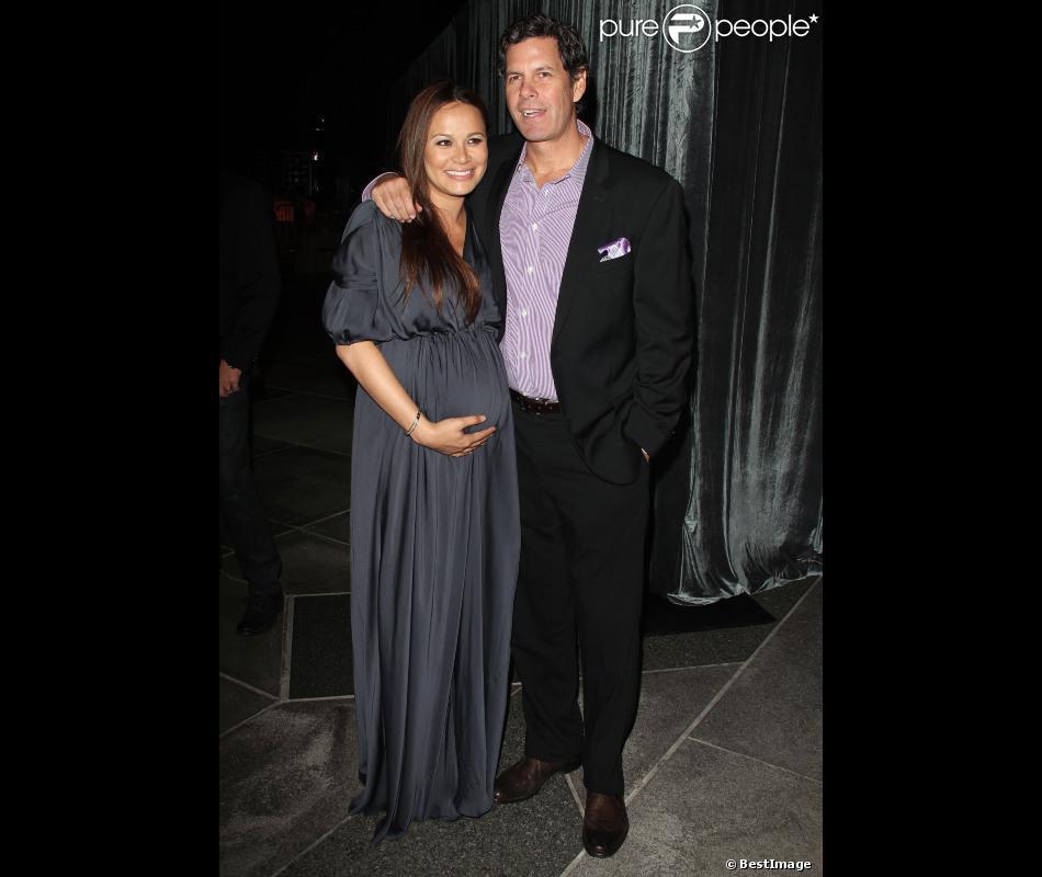 Moon Bloodgood et son mari Grady Hall à la premiere de The Sessions au théâtre LACMA Bing de Los Angeles, le 10 Octobre 2012.