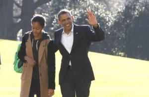Barack Obama, Michelle et les filles : Retour avec le sourire après les vacances