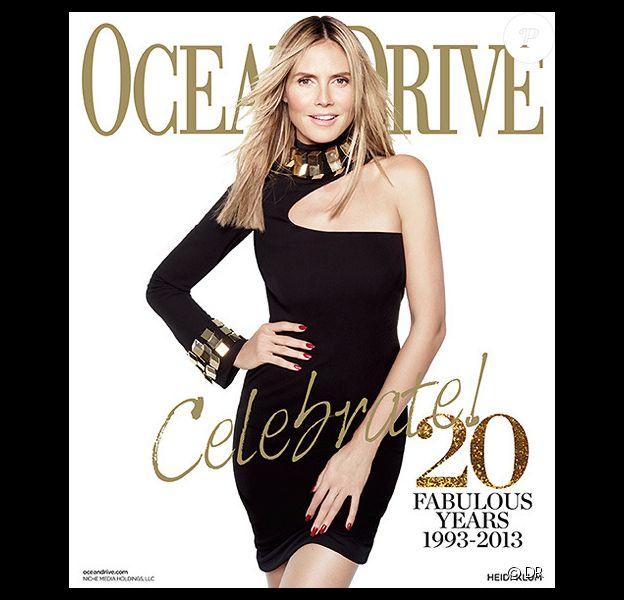 Heidi Klum fait la couverture de Ocean Drive Magazine pour le mois de janvier 2013