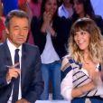 Daphné Bürki et Michel Denisot sur le plateau du  Grand Journal  le lundi 27 août 2012 sur Canal+