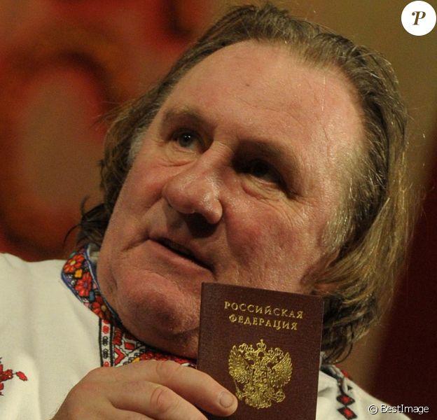 Gérard Depardieu à Saransk, le 6 janvier 2013.