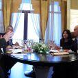 Gérard Depardieu reçu par le président Vladimir Poutine à Sotchi, le 5 janvier 2013.