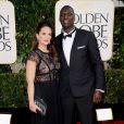 Omar Sy accompagné de sa femme Hélène lors des Golden Globes le 13 janvier 2013