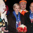 Albert et Charlene de Monaco au 37e Festival International du Cirque de Monte-Carlo le 17 janvier 2013.