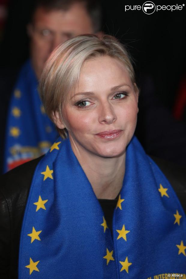 Charlene de Monaco lors du 37e Festival International du Cirque de Monte-Carlo le 17 janvier 2013.