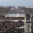 La foule rassemblée lors de la cérémonie d'investiture de Barack Obama le 21 janvier 2013 au Capitole de Washington