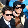 Katy Perry et John Mayer lors de la cérémonie d'investiture de Barack Obama le 21 janvier 2013 au Capitole de Washington