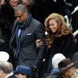 Jay-Z et Beyoncé Knowles lors de la cérémonie d'investiture de Barack Obama le 21 janvier 2013 au Capitole de Washington